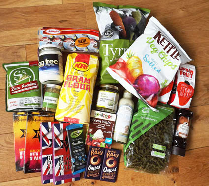 Coeliac travel food items